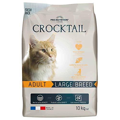 Flatazor - Croquettes CROCKTAIL Adult Large Breed pour Chat - 10Kg