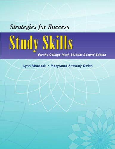 Strategies For Success: Study Skills for the College Math Student (Study Skills in Developmental Math)