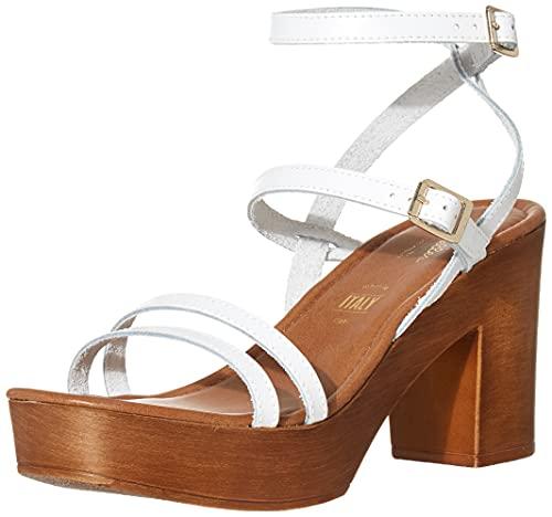 Seychelles Damen Double Dip Sandalen mit Absatz, weiß, 41.5 EU