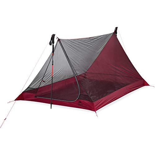 MSR Unisex's Thru Hiker mesh House Person Ultralight Backpacking Tent, Red, 1