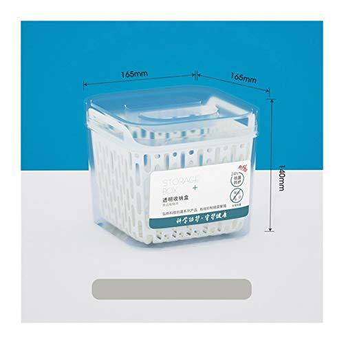 JINSUO Frigorífico Food Storage Container con tapa, recipiente de cocina, junta, depósito de plástico separado, cesta fresca, gran capacidad (color: 1)