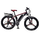 Bicicletas Bicicleta De Montaña Eléctrica De 26'para Adultos, Bicicletas De Carretera Híbridas 350W Bicicleta Eléctrica 36V 8 / 10Ah / 13Ah Batería De Litio Extraíble, B(Color:C,Size:8Ah 50Km)