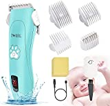 Baby Hair Clippers, Electric Hair Clippers for Kids Ceramic Hair Trimmer for Infants & Toddler Ultra Quiet IPX7 Waterproof Rechargeable Cordless Haircut Kit Set for Child Fine Hair