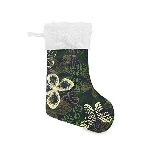 Un Conjunto de Medias de Navidad Calcetines de Navidad Decoración Adorno Colgante Mariposa Deportiva