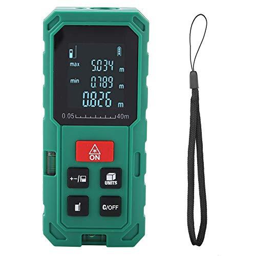 Telemetro Laser Digitale a Intervallo di Misurazione 40M / 60M / 80M / 100M, Distanziometro Misuratore Distanza con Display LCD(S40)