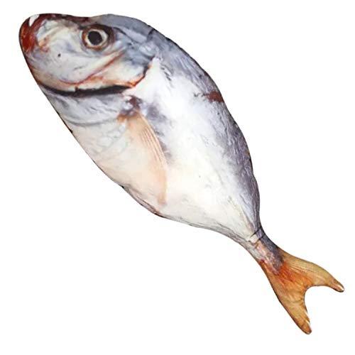 Almohada de juguete de peluche con forma de pez de imitación, cojín de peluche de gran tamaño, regalo creativo para decoración del hogar, Salted Fish, 23.6 IN