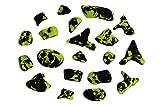 Unbekannt 20 Klettergriffe grün-schwarz Top Angebot
