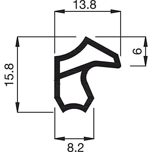 Gedotec Stahl-Zargendichtung weiß Türzargen-Dichtung - M 2246 | Falzbreite 12 mm | Türanschlag-Dichtung weiß | Dichtung für Eisen- & Metall-Zargen | 1 Stück - 5 Meter Ersatzdichtung für Stahlzargen