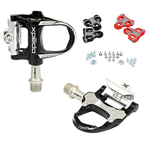 Xpedo Road Bike Sealed Magnesium Pedals Look Keo Compatible Black