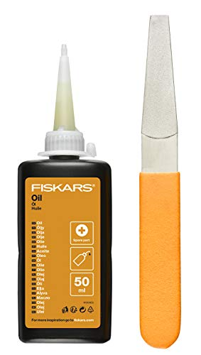 Fiskars Maintenance Kit, For Garden Cutting Tools, with Diamond File, Oil...