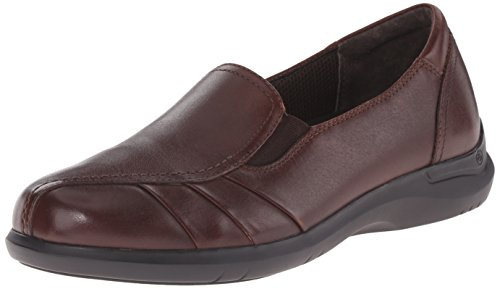 Aravon Women's Faith Flat,Brown,9 2E US