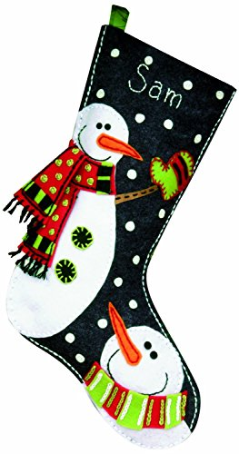 Dimensions Felt Applique, Snowmen Stocking