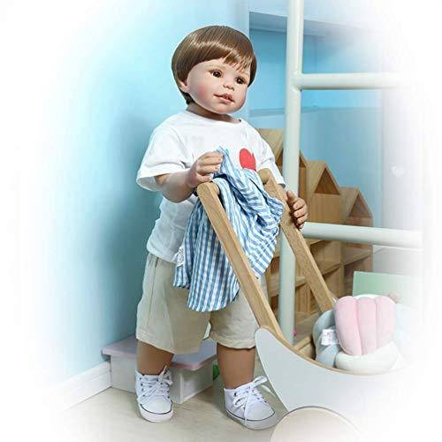GaoF Nuevo Modelo de muñeca de bebé Reborn de 70 cm, Silicona Puede soportar muñecas de simulación realistas Hechas a Mano, Regalos de Juguete y Modelo de Ropa para niños para exhibición
