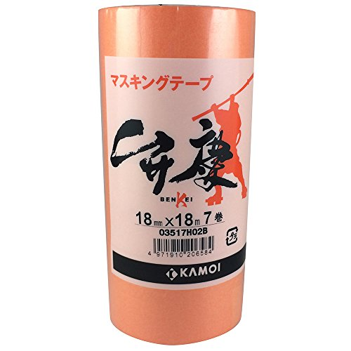 カモ井 マスキングテープ 弁慶 18mm×18m 7P [養生テープ]