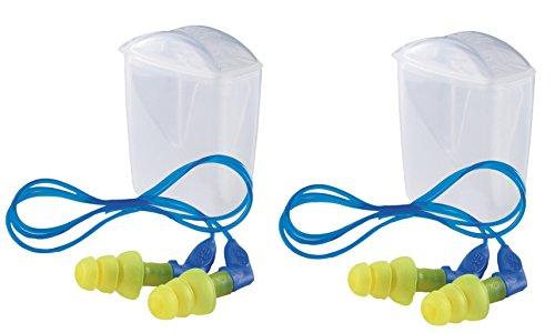 Set 2er 3M E-A-R Ultrafit X Gehörschutzstöpsel UF01014, mit Kordel, SNR = 35 dB, wiederverwendbar, inkl. Aufbewahrungsbox