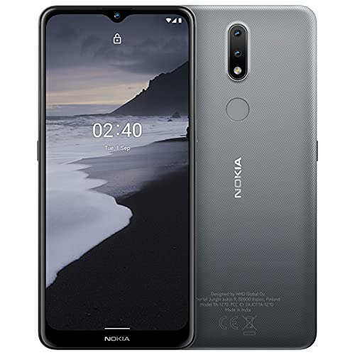 Nokia 2.4 (64GB, 3GB) 6.5' HD+, 2-Day Battery, Android 11, Octa-Core, GSM Unlocked 4G Volte (T-Mobile, Metro, Global) International Model TA-1277 (w/Liquid Screen Protector, Grey)