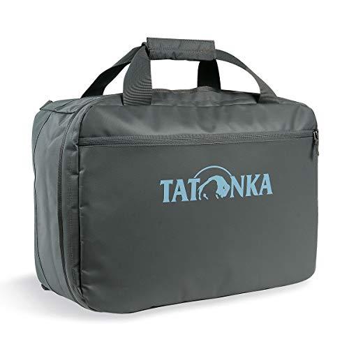 Tatonka Flight Barrel - Reisetasche mit Rucksackfunktion aus LKW-Plane - 50x36x20 cm - 35 Liter - wasserfest, pflegeleicht und robust - Handgepäcktasche - grau