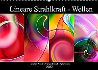 Lineare Strahlkraft - Wellen, Digitale Kunst (Wandkalender 2022 DIN A2 quer): Die Eleganz uebereinandergelagerter Wellen und Linien. Futuristisch - Abstrakt - Farbenfroh (Monatskalender, 14 Seiten )