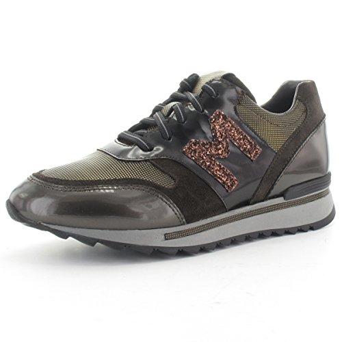 MARIPE 22497-146483 Sneaker mit markanter Gummisohle - Lederkombination braun
