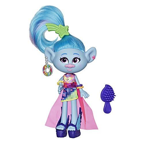 DreamWorks Trolls Glamour Seide Fashion Puppe mit Kleid, Schuhen und mehr, inspiriert vom Film Trolls World Tour, Spielzeug für Mädchen ab 4 Jahren