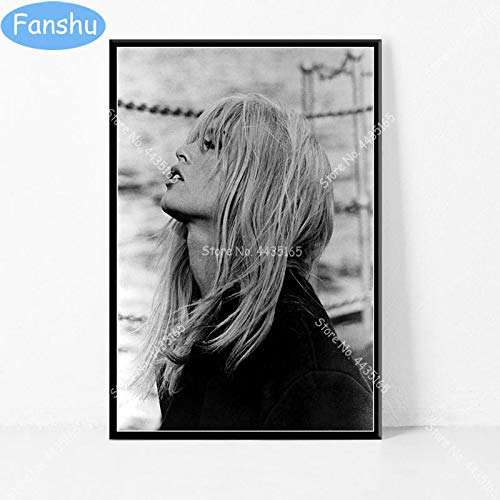 N / A Heiße Brigitte Bardot Filmplakat Schauspielerin Modell Leinwand Malerei Plakate und Drucke Wandkunst Bild Wohnzimmer Home Decor50x60cm