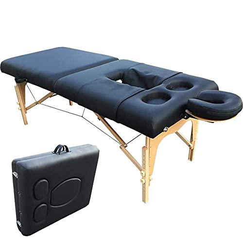 H-BEI Sofá de Masaje Ligero Plegable con Orificio en el Pecho Ajustable - Mesa de Masaje portátil - Mesa de salón de Belleza Sofá de salón de Belleza Cama cómoda