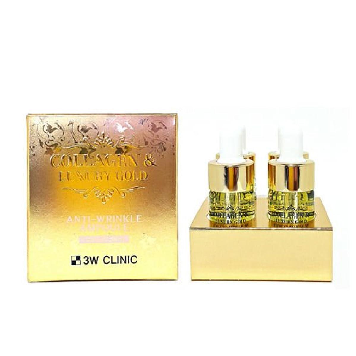 サリー想定女優3Wクリニック[韓国コスメ3w Clinic]Collagen & Luxury Gold Anti-Wrinkle Ampoule コラーゲンラグジュアリーゴールド アンチリンクルアンプル13mlX4個[並行輸入品]