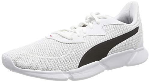 Puma Unisex-Erwachsene INTERFLEX Runner Laufschuhe, White Black-High Risk Red 02, 46 EU