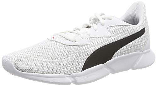 Puma Unisex-Erwachsene INTERFLEX Runner Laufschuhe, White Black-High Risk Red 02, 44 EU