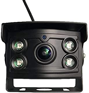 Upgrade Backup Camera Only Rear View Camera with 175°Wide View Angle,CCD Sensor Chip,Infrared HD Night Vision,Waterproof IP68,No Guidelines for Trucks/RV/Van/Bus/Trailer/Box Truck/Vehicle(12-24V).