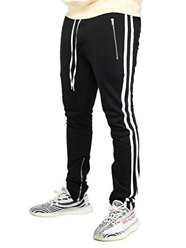 Deadstock Trackpants | Jogginghose Sweatpants Hose (XL, 2 Stripe Weiß)