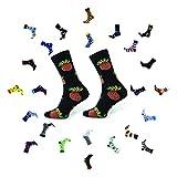 Sesto Senso Calcetines Divertidos Algodón Mujer Hombre Locos Coloridos Funny Socks Pineapple 35-37 Piña