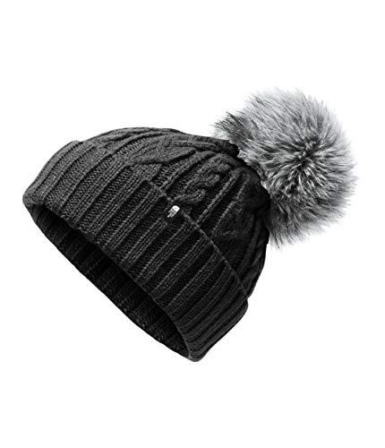 The North Face Women's Oh-Mega Fur Pom Beanie, TNF Black, OS