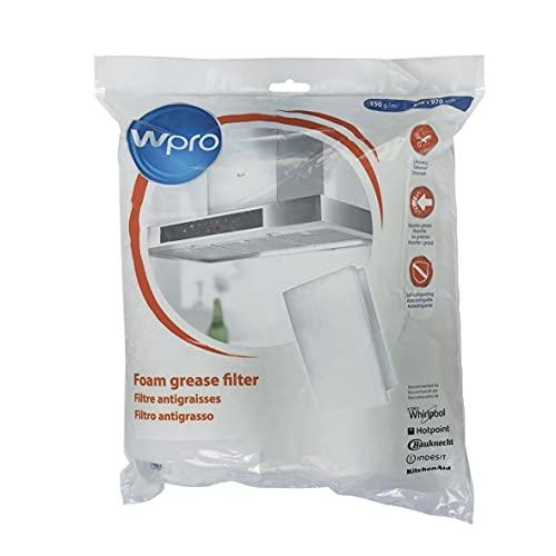 Wpro UGF016 ORIGINAL Fettfiltermatte Fettfilter Vlies Filtermatte Filter Geruchsfilter Dunstabzugshaube zuschneidbar 970x470mm 150g/m² auch Whirlpool Bauknecht 484000008523