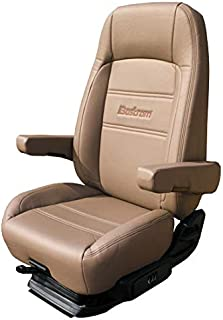 Bostrom Pro Ride Low Base High Back Seat With Armrests - Taupe Ultra-Leather