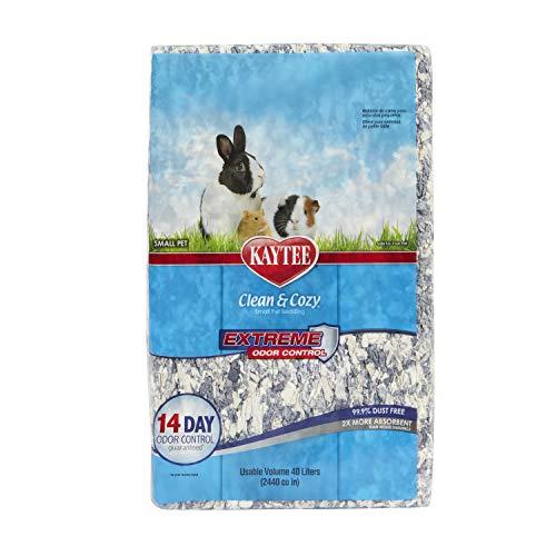Kaytee Clean & Cozy para Animales Pequeños, Ratones, Jerbos, Roedores, Hámsteres, Camas para Conejos, Control de Olores Fuertes, Lecho de Papel Súper Absorbente, 99,9% Libre de Polvo, 40 Litros 2020 g