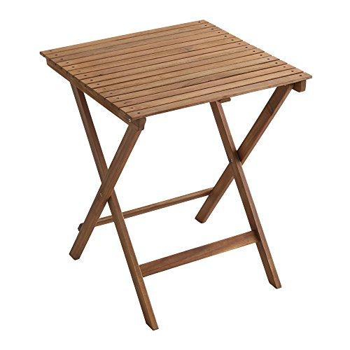 人気の折りたたみガーデンテーブル(木製)アカシア材を使用|Xiao-シャオ-