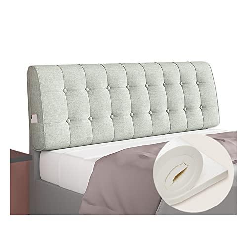 LIANGJUN - Cojín para el respaldo de la cama, látex natural, soporte para posicionamiento lumbar, adecuado para camas individuales y dobles, extraíble y lavable, tamaño personalizado, grosor 10 cm