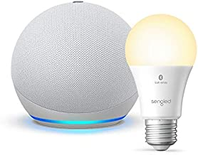 All-new Echo Dot (4th Gen) - Glacier White - bundle with Sengled Bluetooth bulb