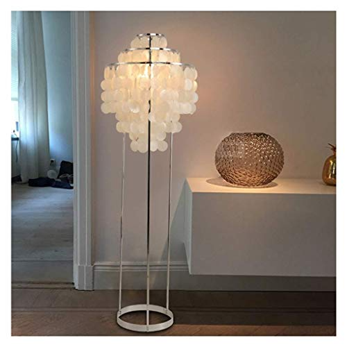 Stehlampe Moderne minimalistische weiße Muscheln Stehlampe Schlafzimmer Esszimmer E27 110-220 V Stehlampe (Farbe: Weißes Licht)