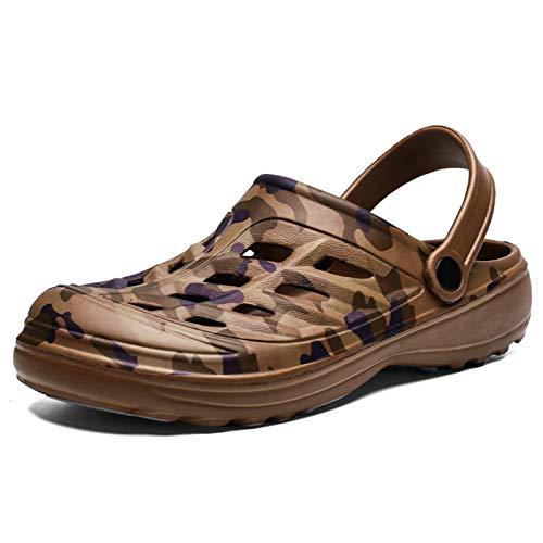 ALSYIQI Classic Clog - Zapatos de agua para hombre y mujer, cómodos, zapatos de playa ligeros, zuecos de jardín, (B Marrón), 42 EU