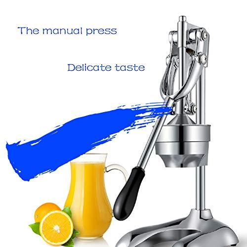 TYZY Handpressmaschine Edelstahl Großer Durchmesser für Orangen Zitronenpresse Silber 47 * 26 * 19cm