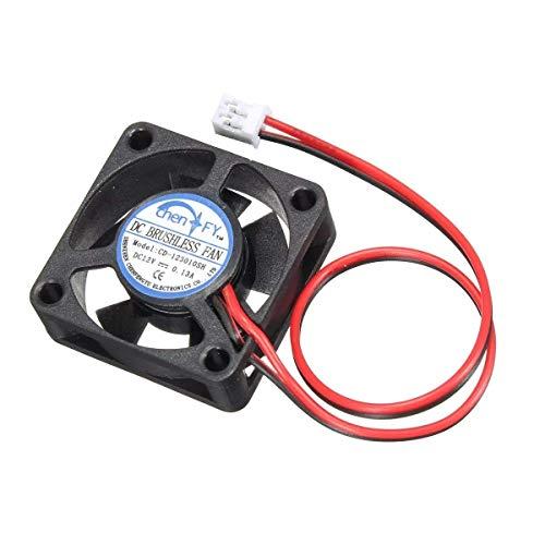SPRINGHUA 30 x 30 x 10 mm, 5 piezas 3010s 12V 2Pin DC Cooler pequeño ventilador de refrigeración para impresora 3D