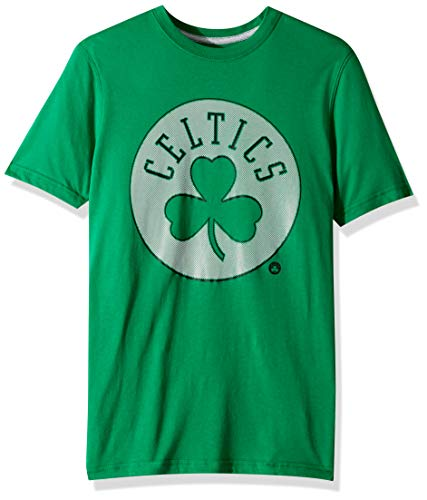 Ultra Game NBA Boston Celtics Mens Brushed Reflective Logo Tee Shirt, Team Color, XX-Large