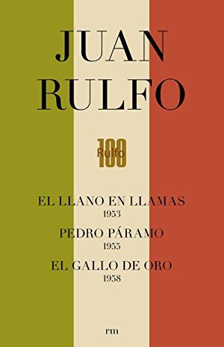 CAJA. EDICIÓN CONMEMORATIVA DEL CENTENARIO DE JUAN RULFO: Pedro Páramo. Llano en Llamas. Gallo de Oro