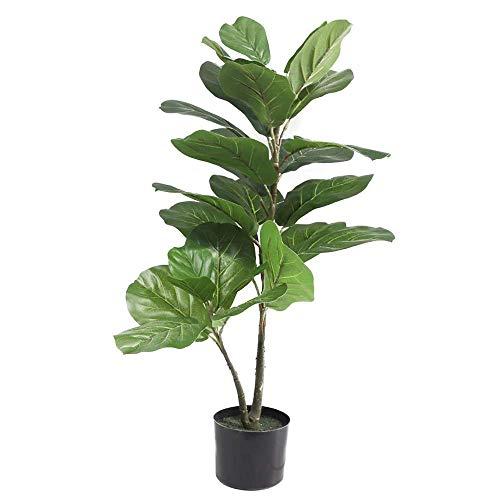 Künstliche Geigenblatt Feigenbaum, 95 cm gefälschte Ficus Lyrata Zimmerpflanze für Home Office Dekor mit Topf
