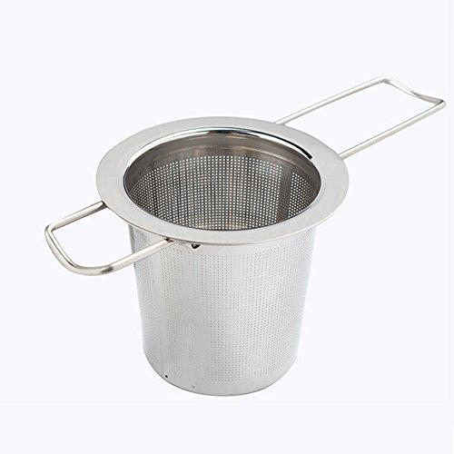 Edelstahl Extra feinmaschiger Tee-Aufguss Steiler Siebfilter, Tee-Aufguss, loseblättrige Körnerteetassen