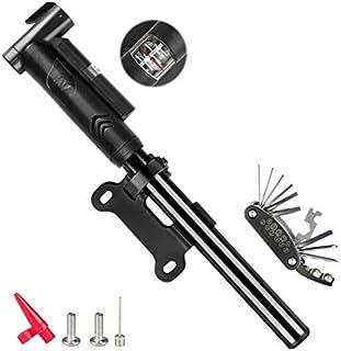 comprar comparacion Zaeel Mini Bomba de Bicicleta, Ligero y Flexible, Bomba de Aire de Mano para Bicicleta, presión máxima 120 PSI/8 Bar, Comp...