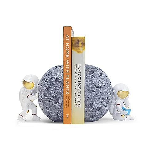 Banllis Astronaut Decorative Bookend Book Ends for Office Decorative Bookends for Shelves, Book...