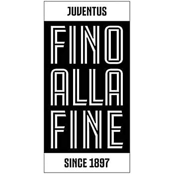 Telo Mare Piscina Ufficiale FC Juventus 100/% Cotone Originale Nuovo Modello Juventus Fino alla Fine, 70 x 140 cm